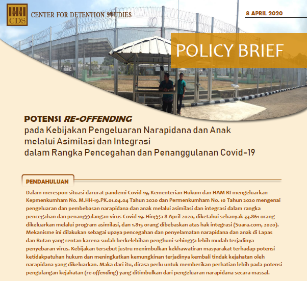 Policy Brief Potensi Reoffending